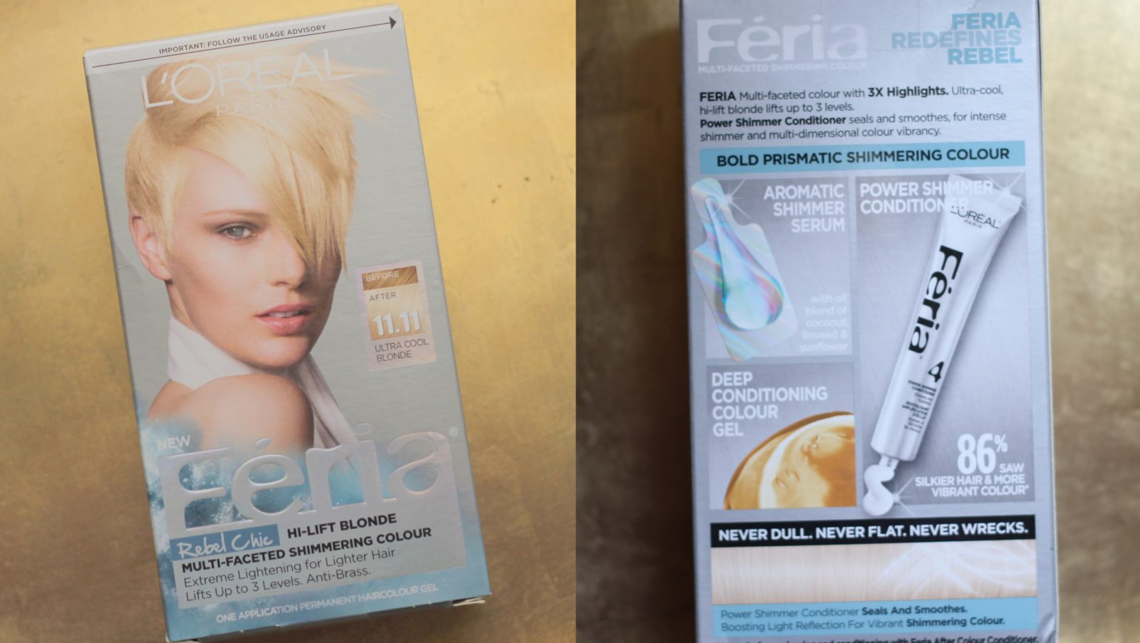 Review with Before and After Photos: Feria Rebel Chic Hi-Lift Blonde – Shade 11.11 Icy Blonde