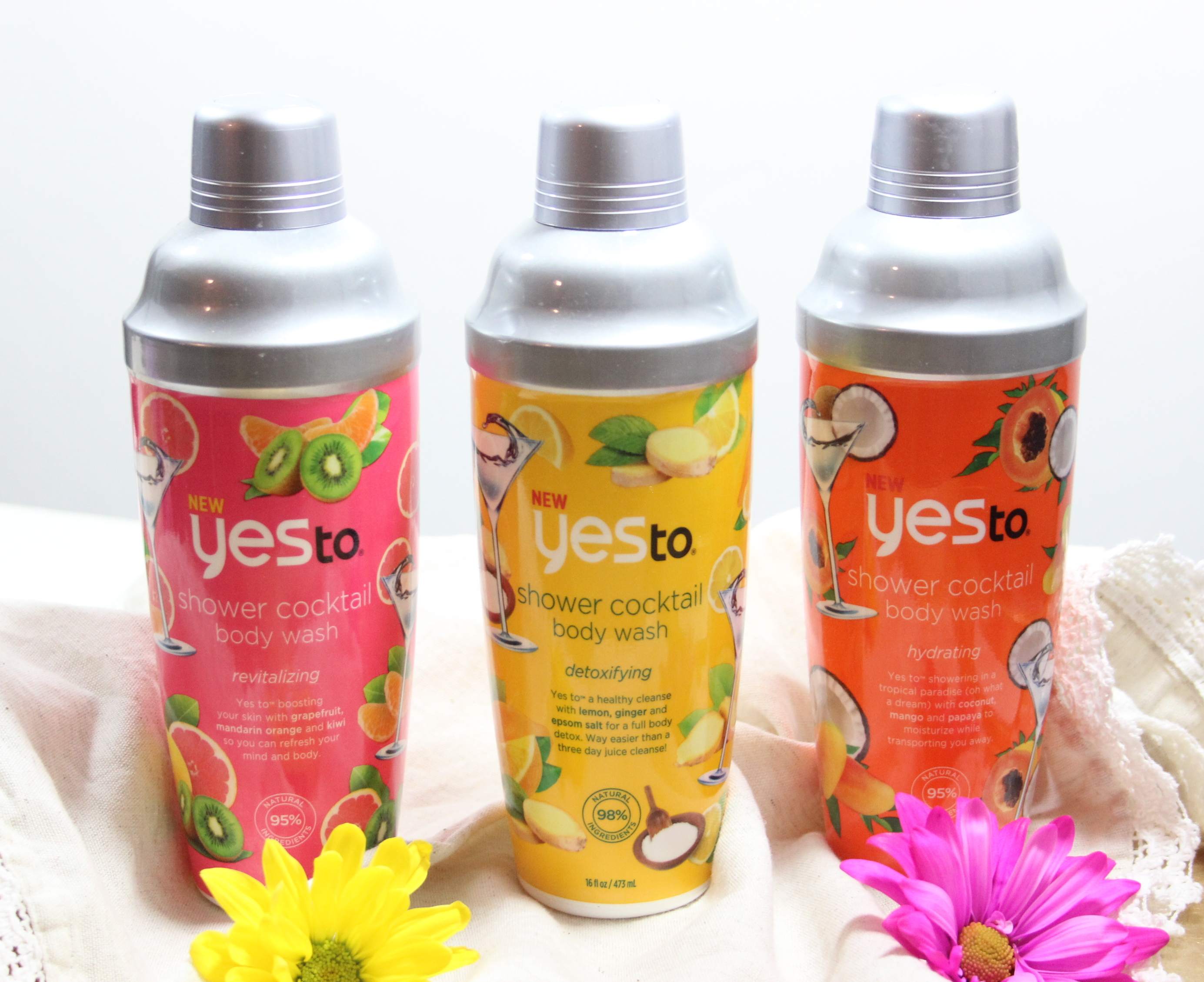 Yes To Shower Cocktail Body Wash Collection