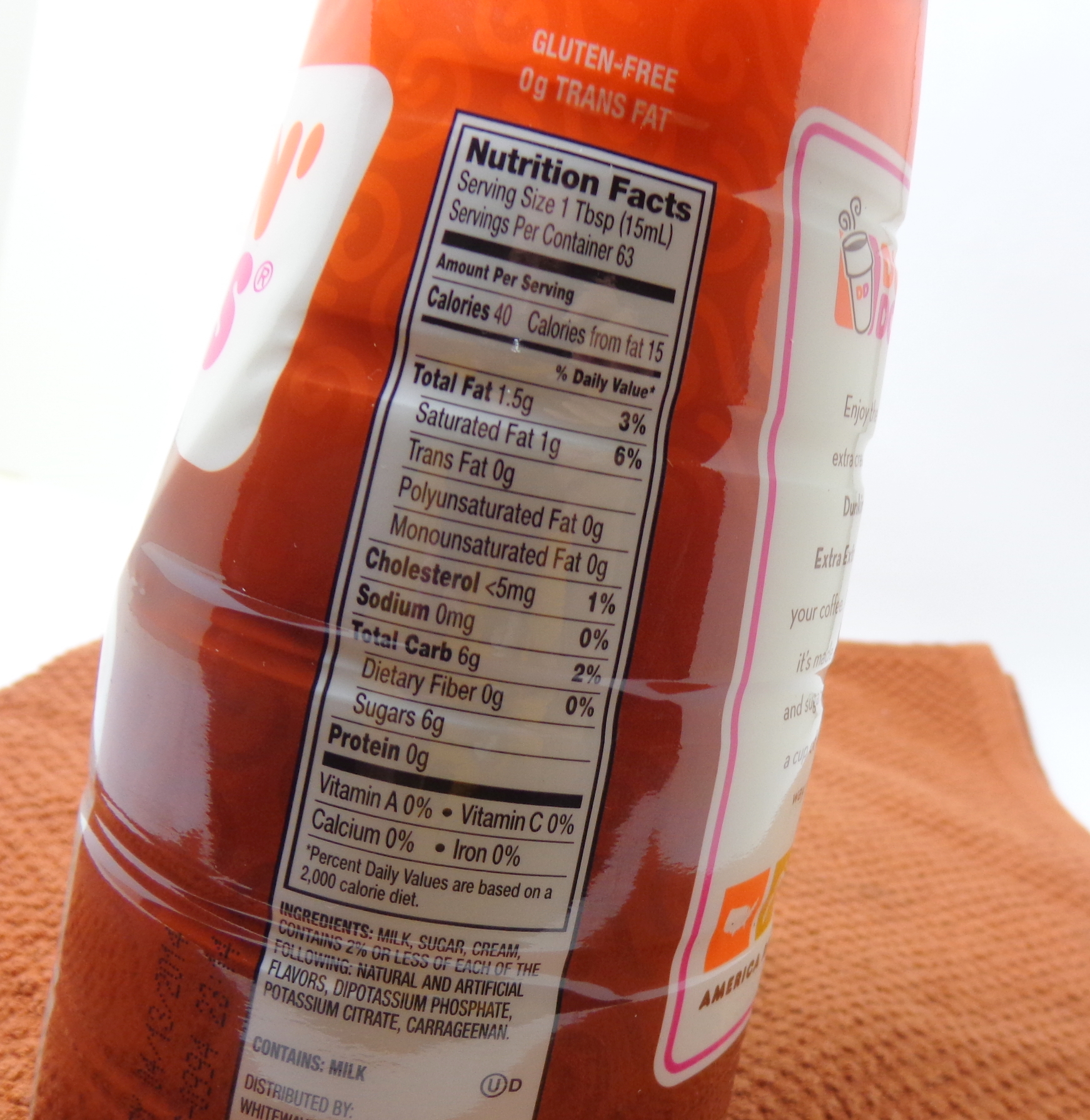 Dunkin Donuts Cinnamon Roll Coffee Nutrition Facts